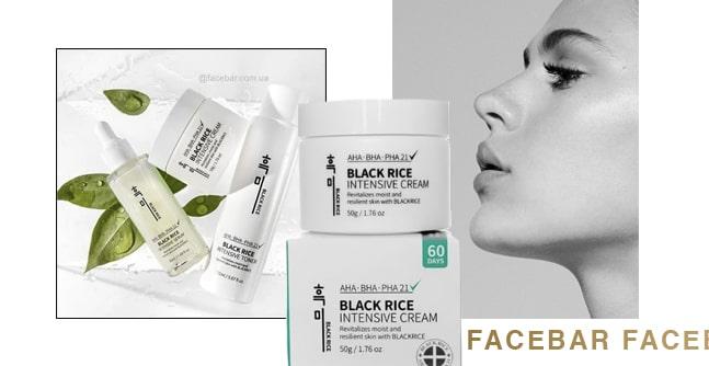 Крем с Aha, Bha и Pha-кислотами Black Rice Intensive Cream.